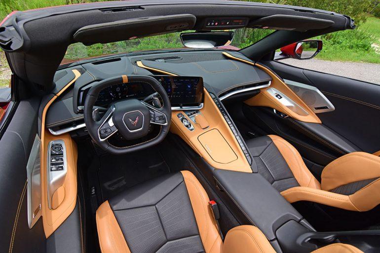 2021 chevrolet corvette stingray c8 convertible interior dasboard