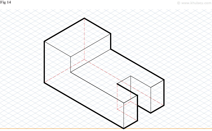 orthographic to isometric drawing examples pdf
