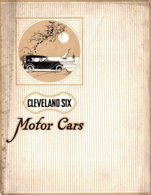 1920 Clevelend Six Brochure
