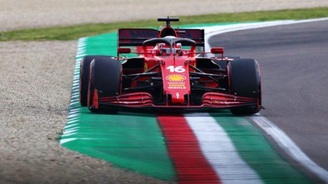 Leclerc sul Gp di Imola.