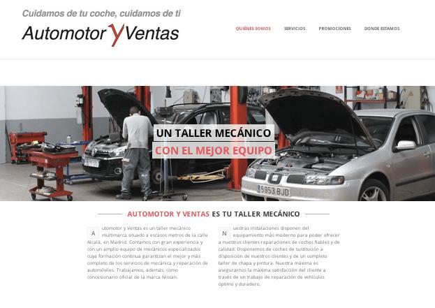 Automotor y Ventas estrena página web