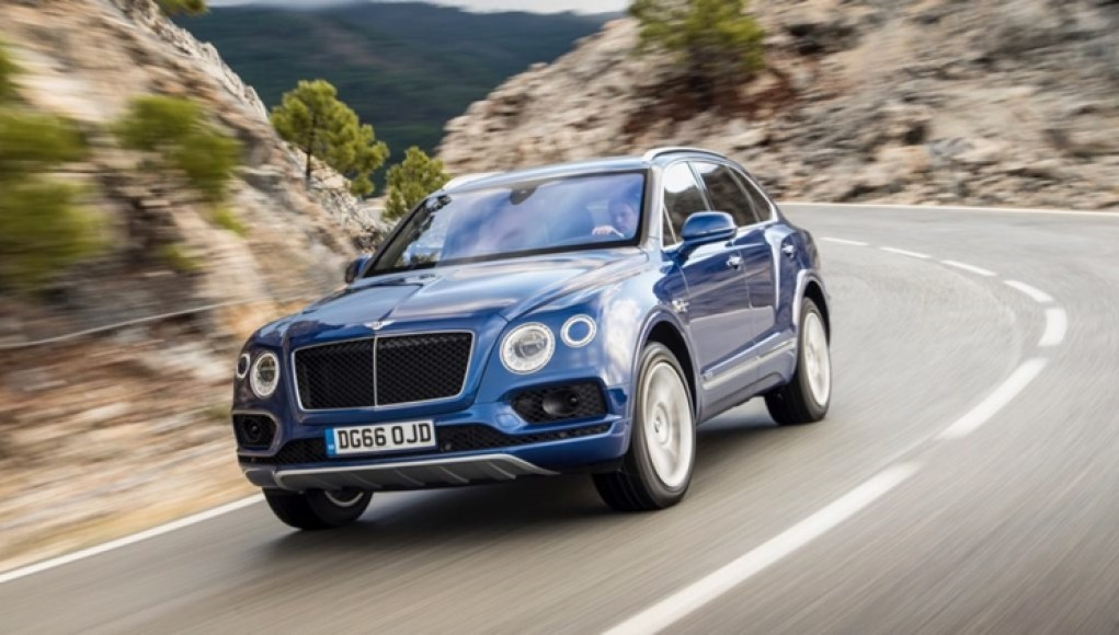 Bentley Bentayga participating in Pikes Peak Hill climb