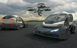 Audi and Air Bus flying taxi