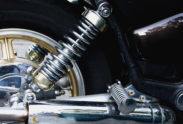 Yamaha shock absorbers for motorbike.