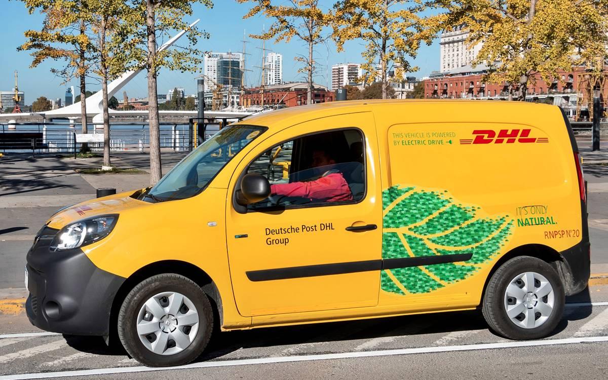 DHL Express Argentina sumó a su flota cinco Renault Kangoo Z.E 100%