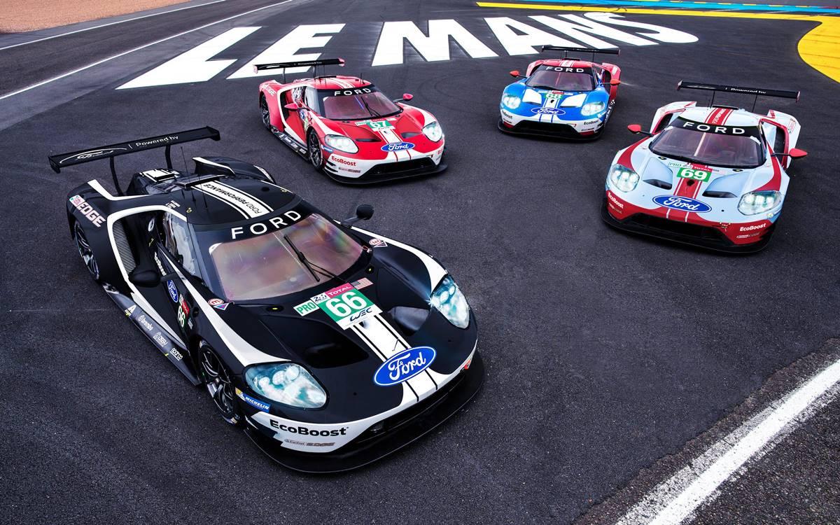 Decoración retro para los Ford GT en las 24 Horas de Le Mans