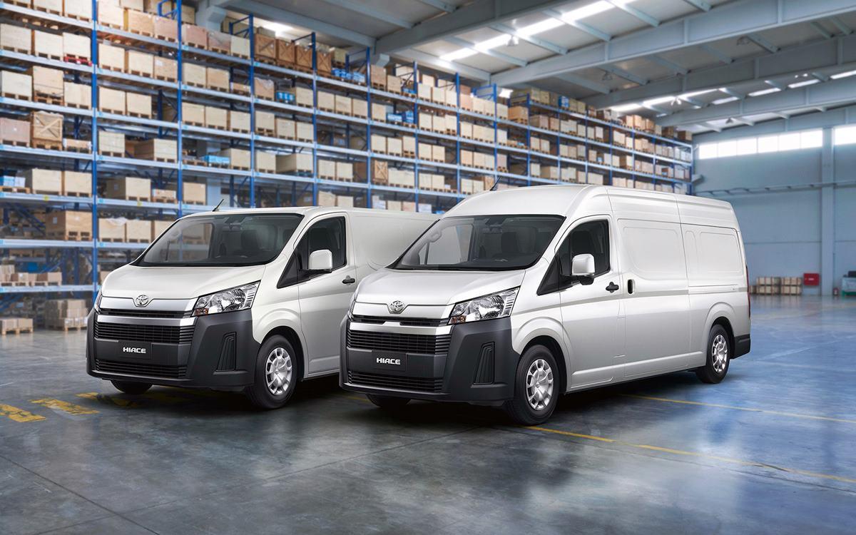 Toyota Hiace: Lista para el trabajo