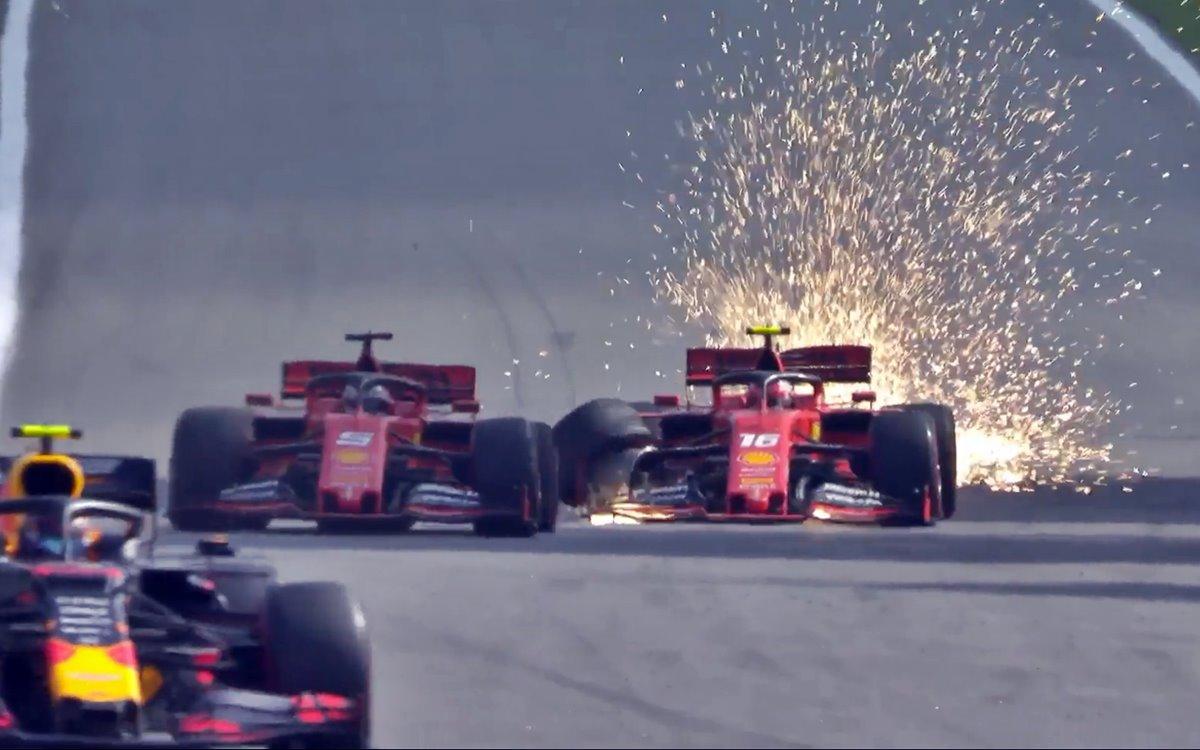 Toque Vettel y Leclerc GP de Brasil 2019