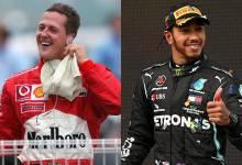 Michael Schumacher y Lewis Hamilton frente a frente