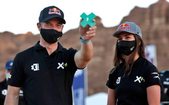 Sébastien Loeb and Cristina Gutiérrez
