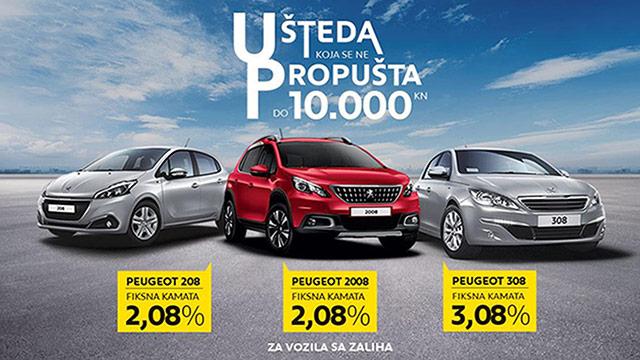Posebna ponuda za Peugeot 208, 2008 i 308 u ožujku