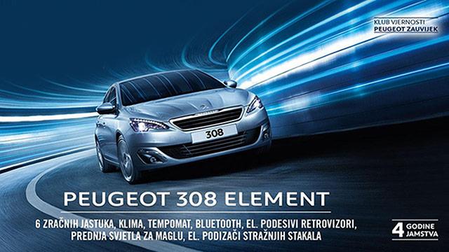 Peugeot 308 Element ima sve što trebate