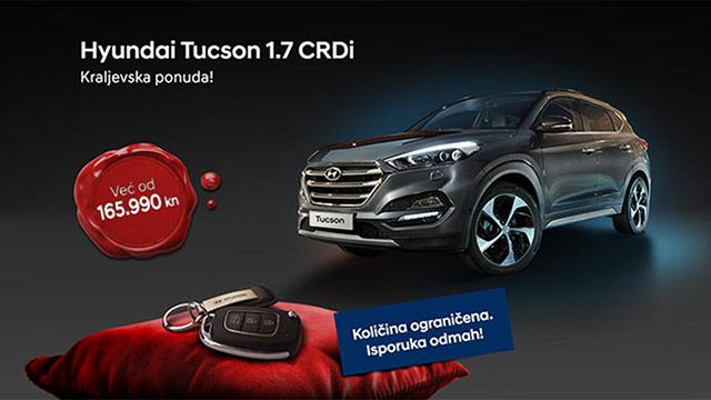 Hyundai Tucson 1.7 CRDi uz registraciju, obvezno i kasko osiguranje od 165.990 kn