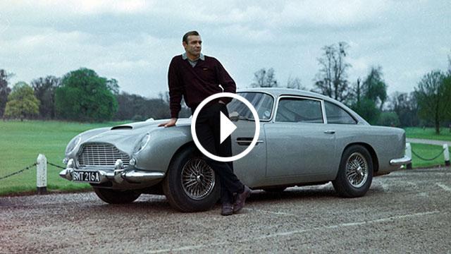 Aston Martin Goldfinger DB5 Continuation i s lažnim strojnicama