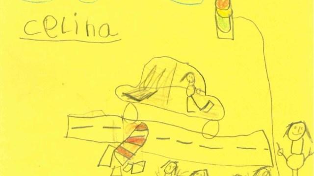 Djeca nacrtala prometnu nezgodu i pomogla policiji