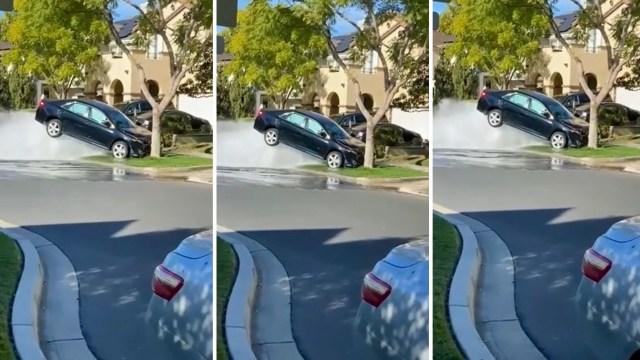 Neplanirano podno pranje Toyote na hidrantu