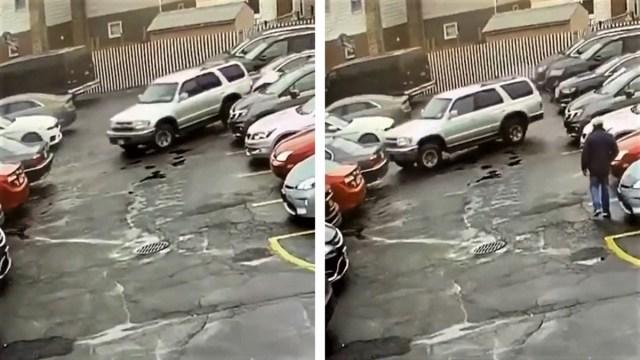 Nevjerojatna vožnja na parkingu: nestali u 10 sekundi