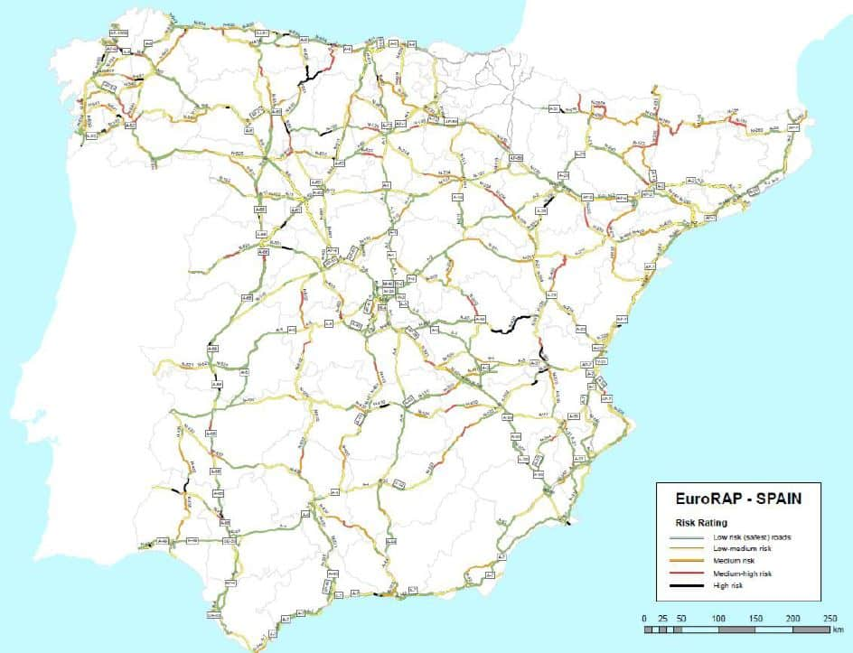 These are the most dangerous roads in Spain in 2019