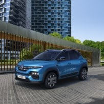 This is the Renault Kiger, an affordable model for India that will arrive in Europe