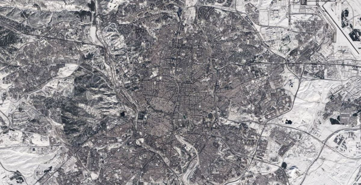 This is how Madrid looks after the historic snowfall that Filomena left us