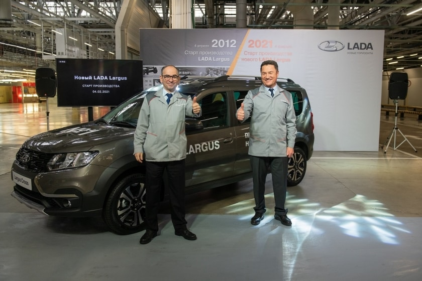 First images of the renewed Lada Largus