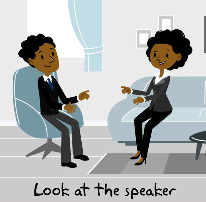 Look at the Speaker