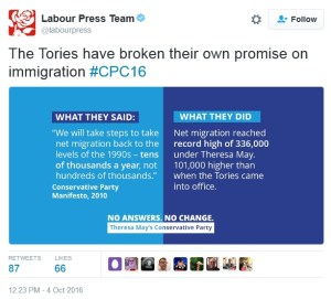 Labour trying to out racist the Tories.