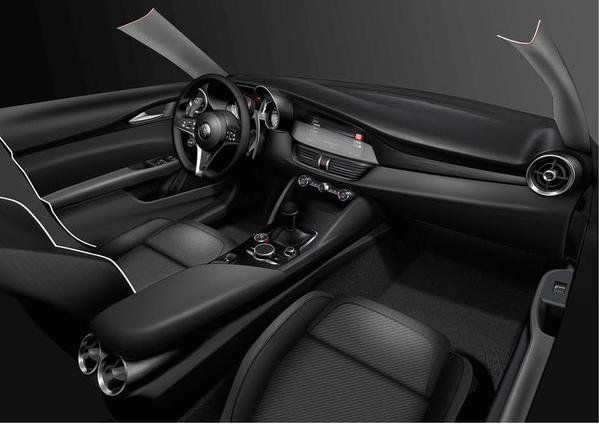 Alfa Romeo Giulia 2015 interni - 02