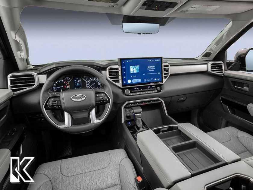 Kleber Silva's projection for the interior of the future pickup based on the Chery Tiggo range