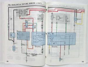1993 Toyota Corolla Electrical Wiring Diagram Manual US