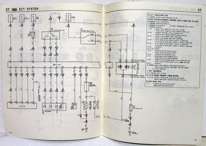 1985 toyota celica wiring diagram  wiring diagram conductor