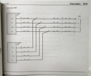 2017 Ford Taurus Interceptor Electrical Wiring Diagrams Manual