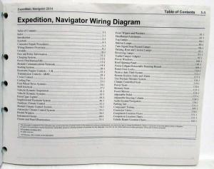 2014 Ford Expedition & Lincoln Navigator Electrical Wiring