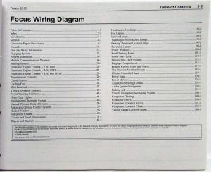 2015 Ford Focus ST Electrical Wiring Diagrams Manual
