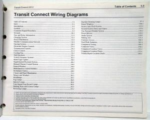 2012 Ford Transit Connect Electrical Wiring Diagrams Manual