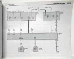 2012 Ford Transit Connect Electrical Wiring Diagrams Manual