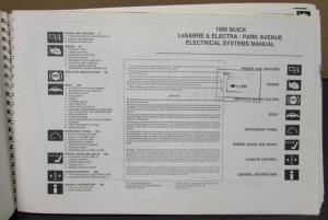1989 Buick Dealer Electrical Wiring Diagram Service Manual
