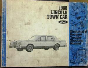 1988 Lincoln Dealer Electrical & Vacuum Diagram Service