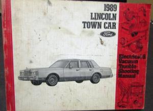 1989 Lincoln Dealer Electrical & Vacuum Diagram Service