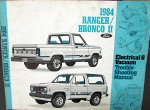 1984 Ford Dealer Electrical & Vacuum Diagram Service