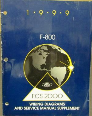 1999 Ford Dealer Electrical Wiring Diagram Service Manual