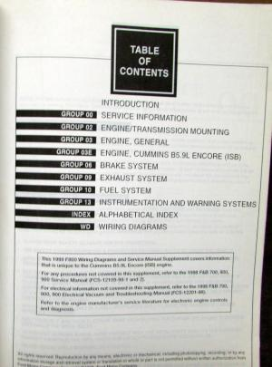 1999 Ford Dealer Electrical Wiring Diagram Service Manual