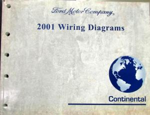 2001 Lincoln Dealer Electrical Wiring Diagram Service