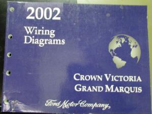 2002 Ford Mercury Electrical Wiring Diagram Manual Crown