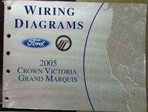 2005 Ford Mercury Electrical Wiring Diagram Manual Crown