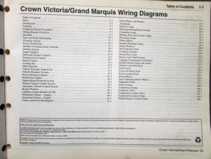 2005 Ford Mercury Electrical Wiring Diagram Manual Crown