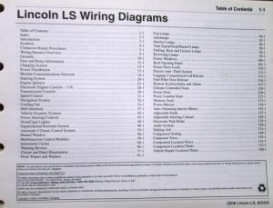 2006 Lincoln Dealer Electrical Wiring Diagram Service