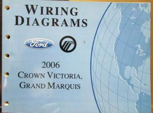2006 Ford Mercury Electrical Wiring Diagram Manual Crown