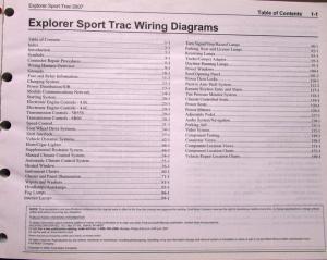 2007 Ford Dealer Electrical Wiring Diagram Service Manual Explorer Sport Trac