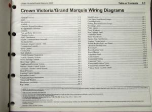 2007 Ford Mercury Electrical Wiring Diagram Manual Crown Vic Grand Marquis